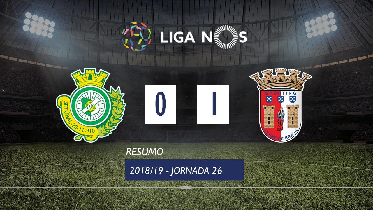 I Liga (26ªJ): Resumo Vitória FC 0-1 SC Braga