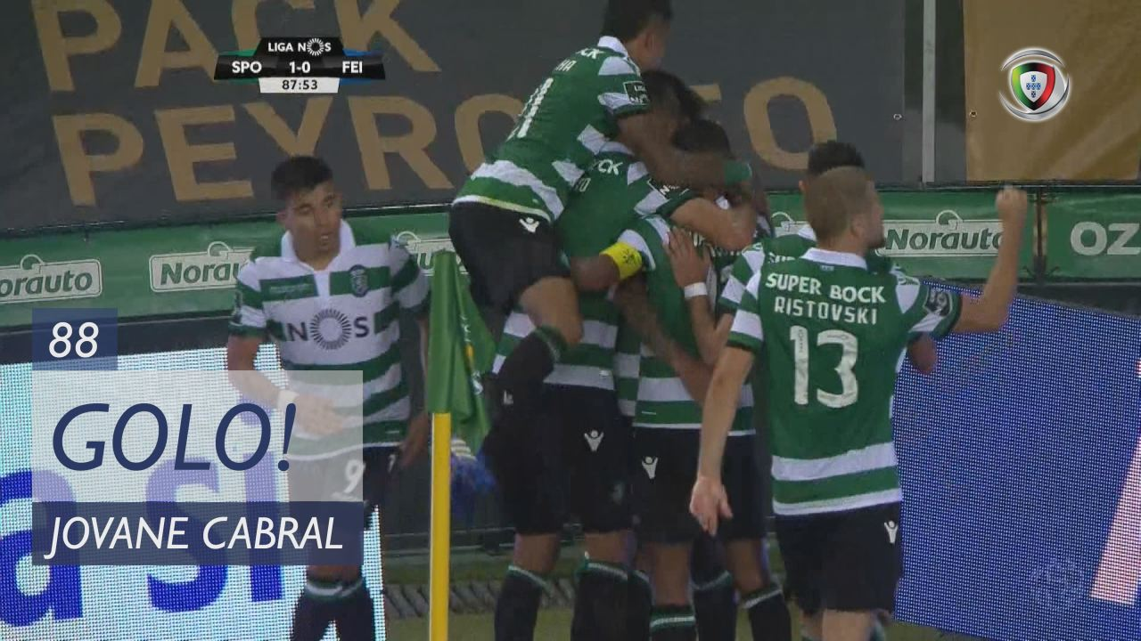 GOLO! Sporting CP, Jovane Cabral aos 88', Sporting CP 1-0 CD Feirense