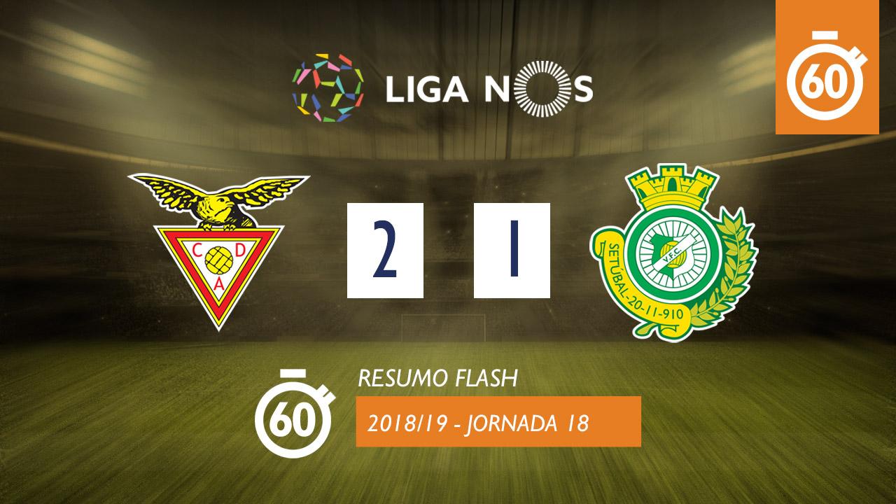 I Liga (18ªJ): Resumo Flash CD Aves 2-1 Vitória FC
