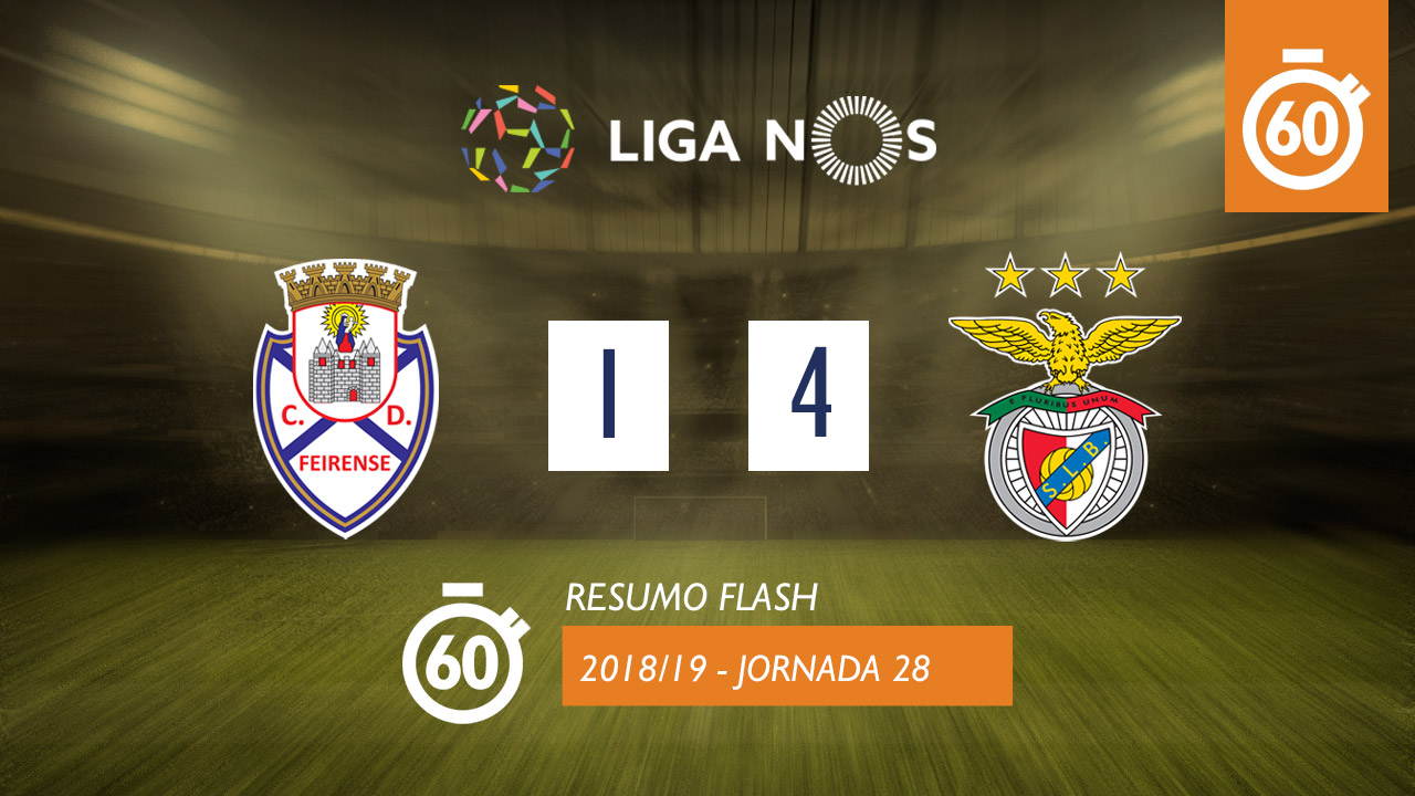 Liga NOS (28ªJ): Resumo Flash CD Feirense 1-4 SL Benfica