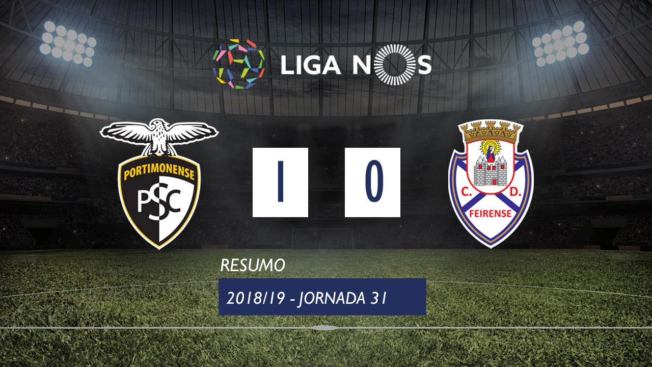 Liga NOS (31ªJ): Resumo Portimonense 1-0 CD Feirense