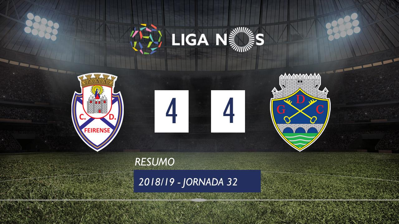 Liga NOS (32ªJ): Resumo CD Feirense 4-4 GD Chaves