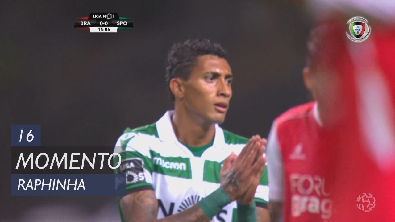 Sporting CP, Jogada, Raphinha aos 16'