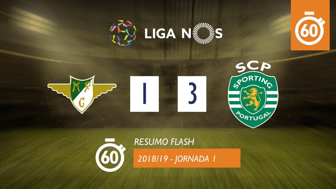 I Liga (1ªJ): Resumo Flash Moreirense FC 1-3 Sporting CP