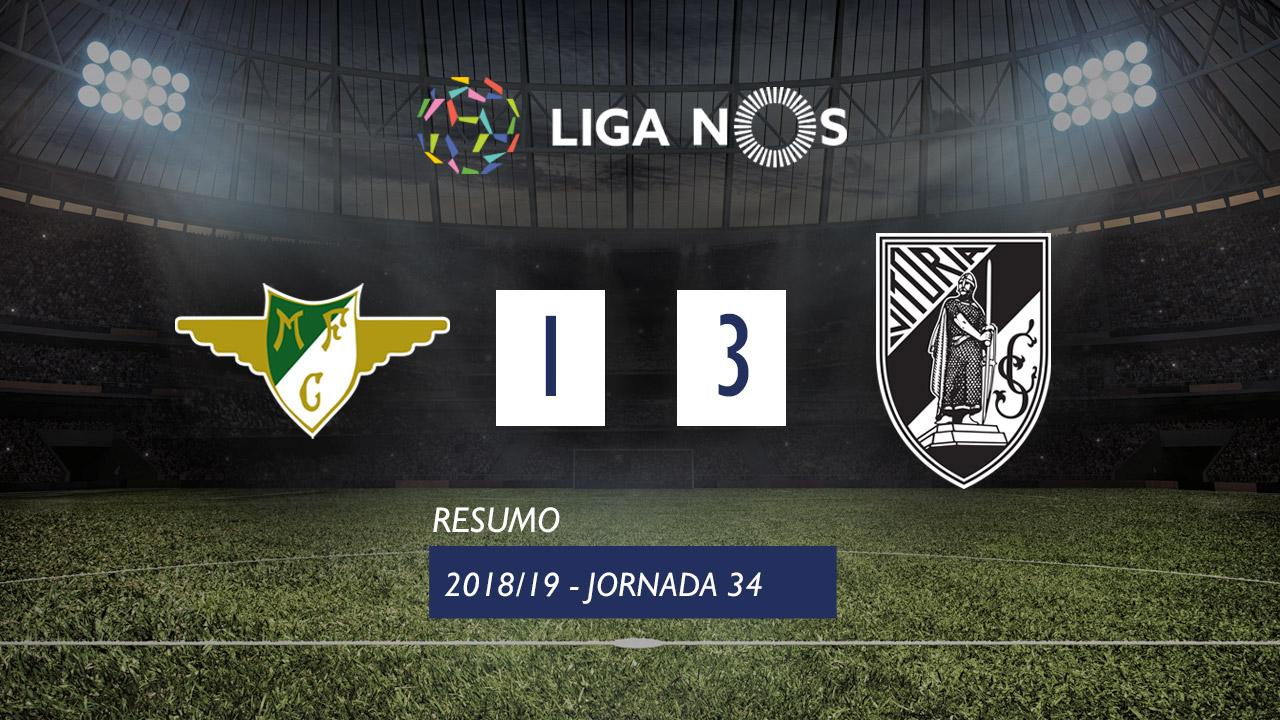 I Liga (34ªJ): Resumo Moreirense FC 1-3 Vitória SC