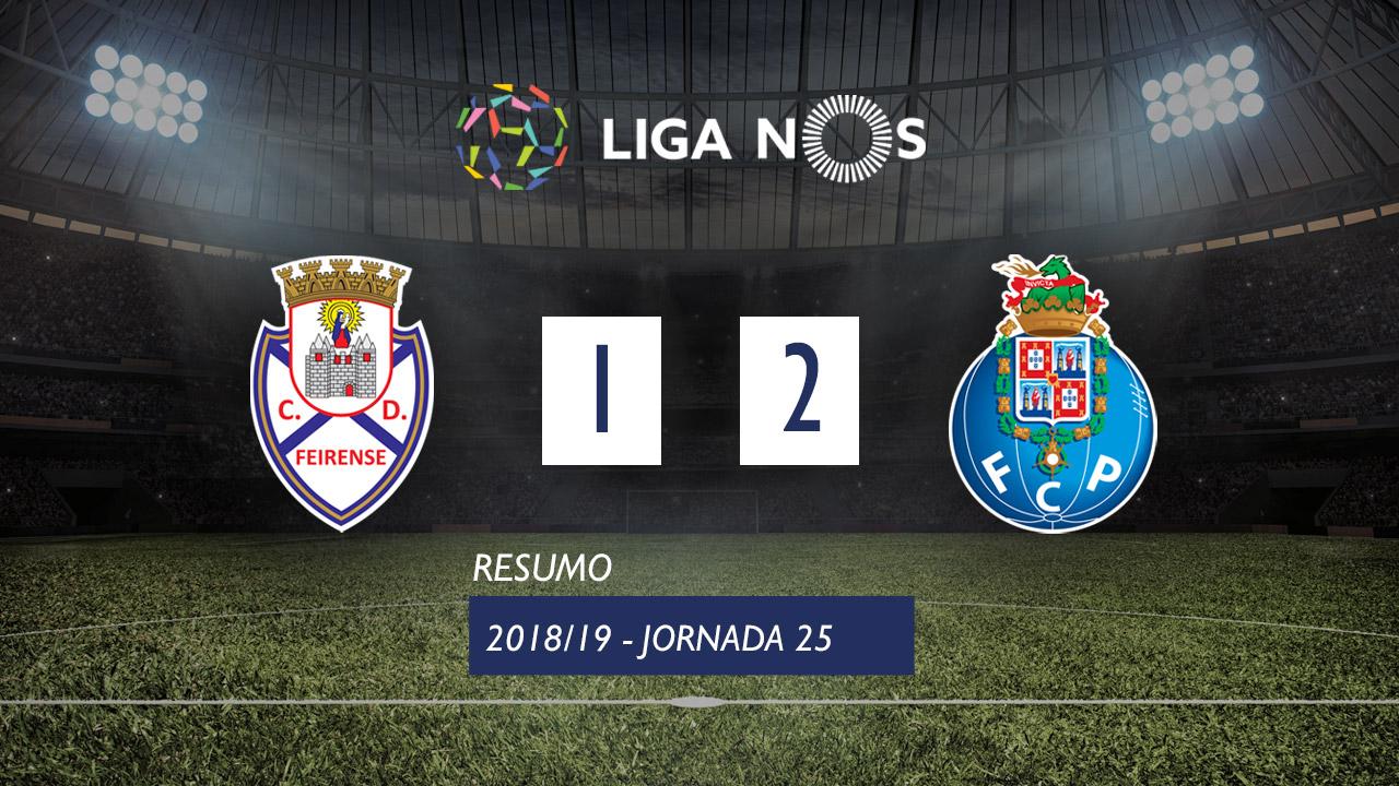 I Liga (25ªJ): Resumo CD Feirense 1-2 FC Porto