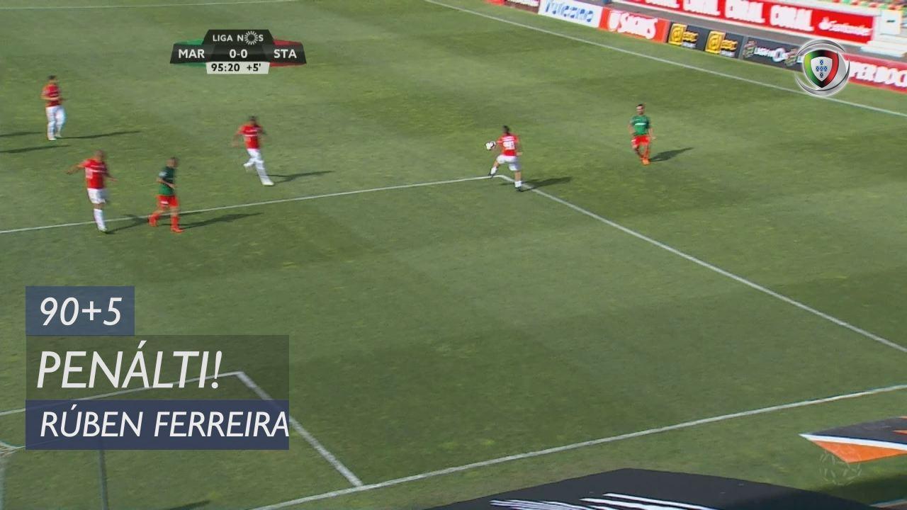 Marítimo M., Penálti, Rúben Ferreira aos 90'+5'