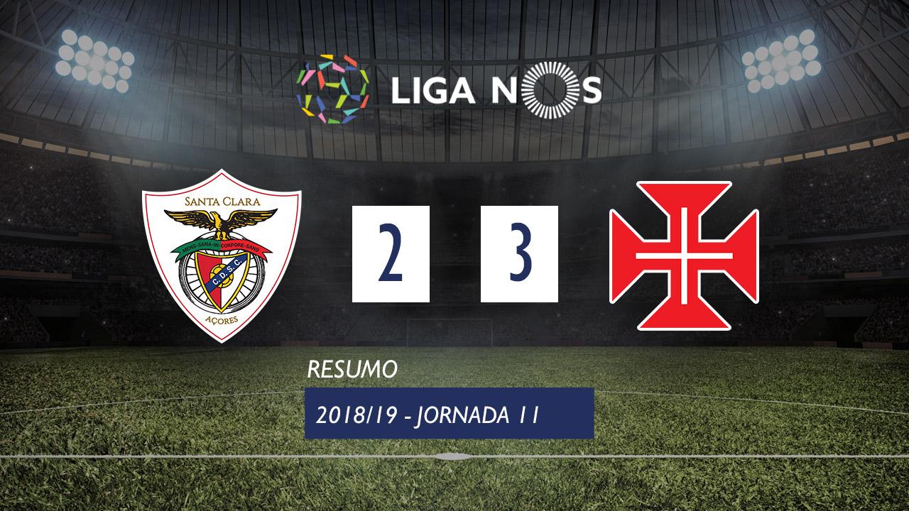 Liga NOS (11ªJ): Resumo Santa Clara 2-3 Belenenses