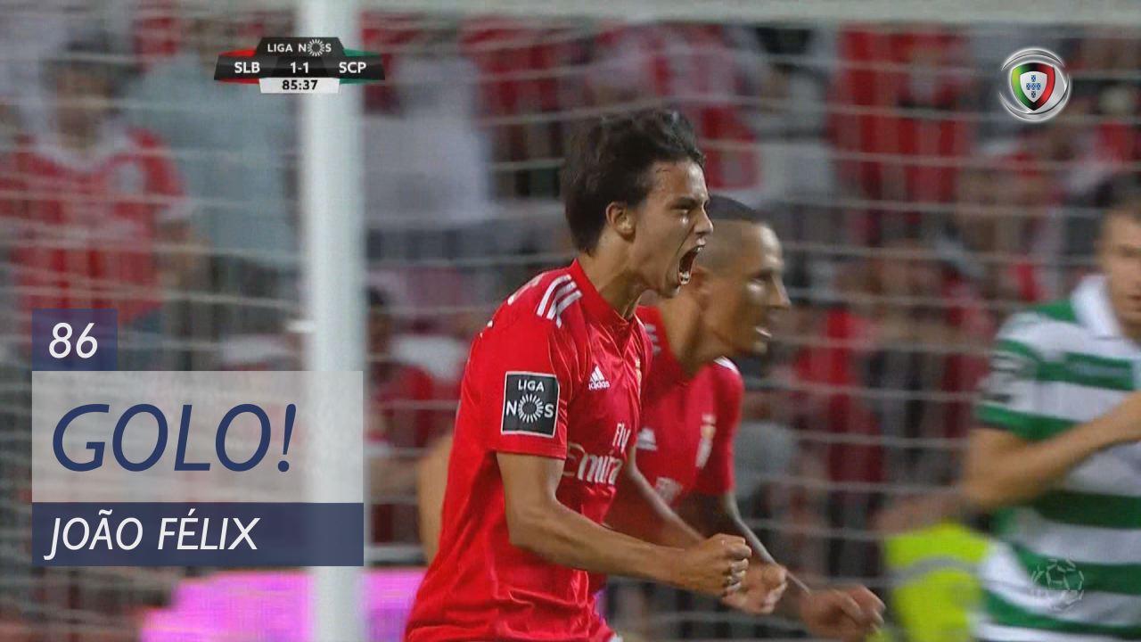 GOLO! SL Benfica, João Félix aos 86', SL Benfica 1-1 Sporting CP