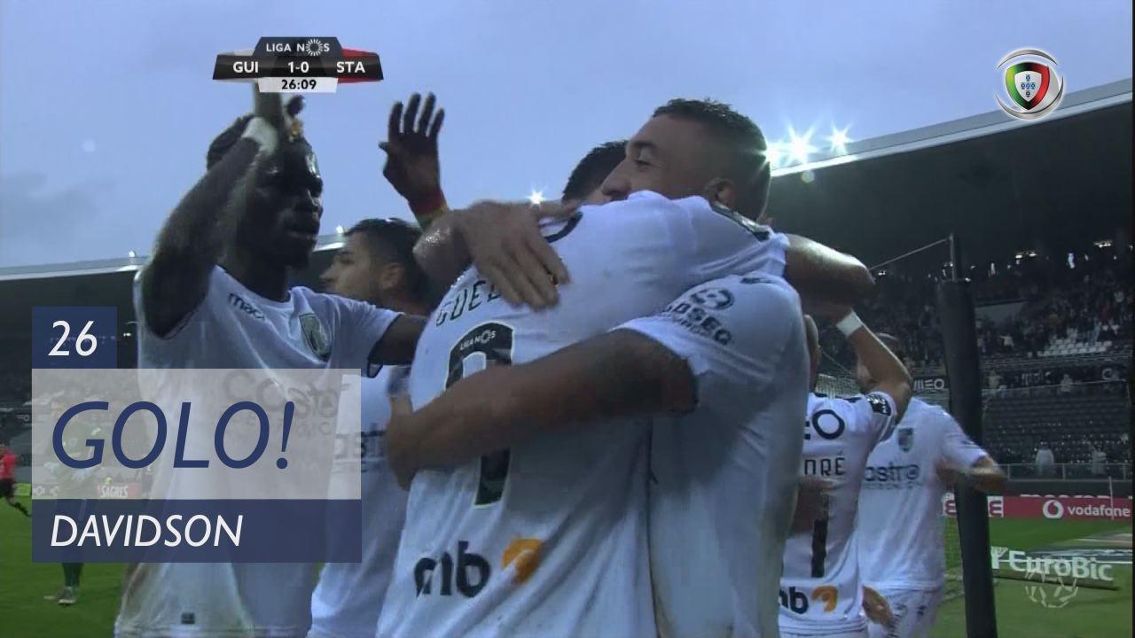 GOLO! Vitória SC, Davidson aos 26', Vitória SC 1-0 Sta. Clara