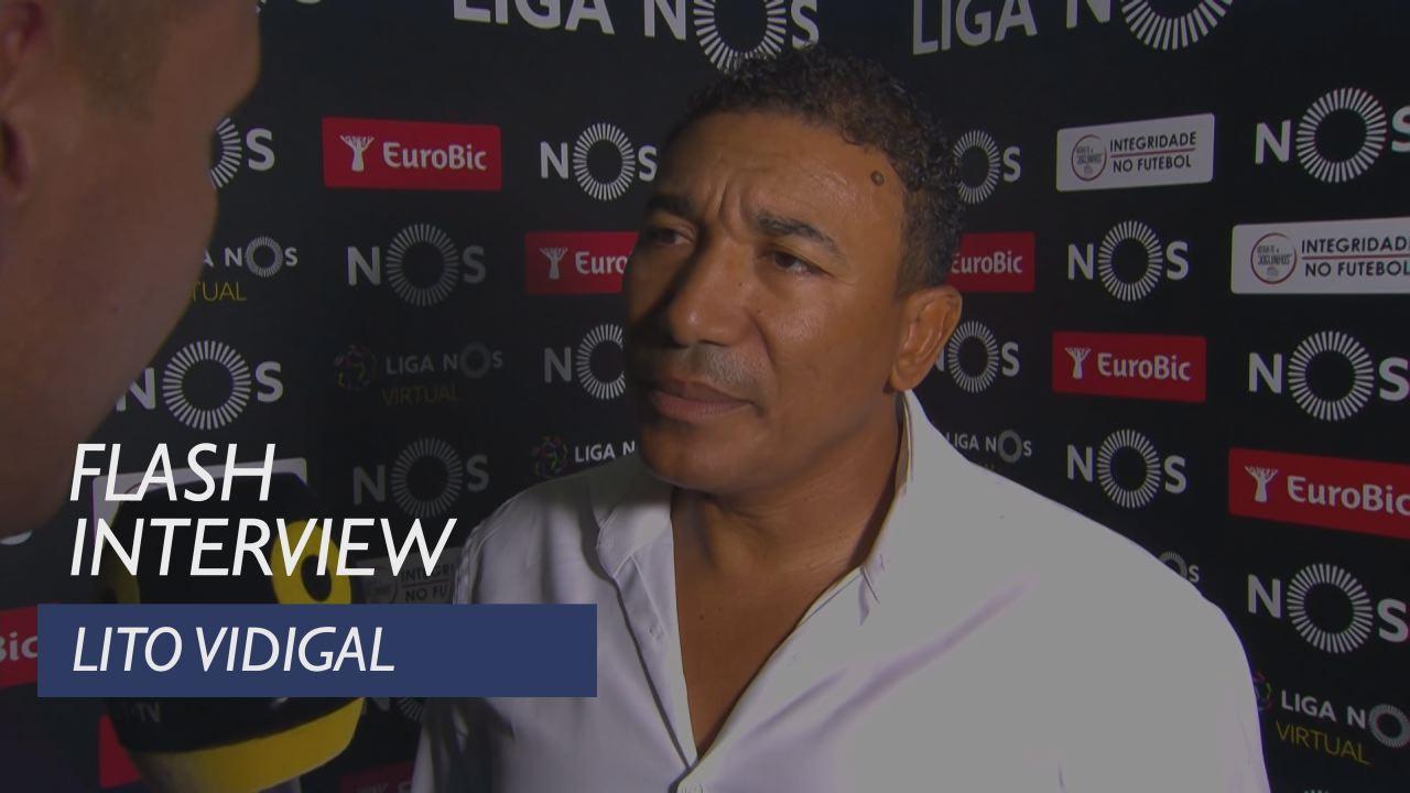 Liga (2ª): Flash interview Lito Vidigal