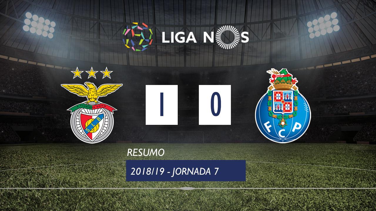 I Liga (7ªJ): Resumo SL Benfica 1-0 FC Porto