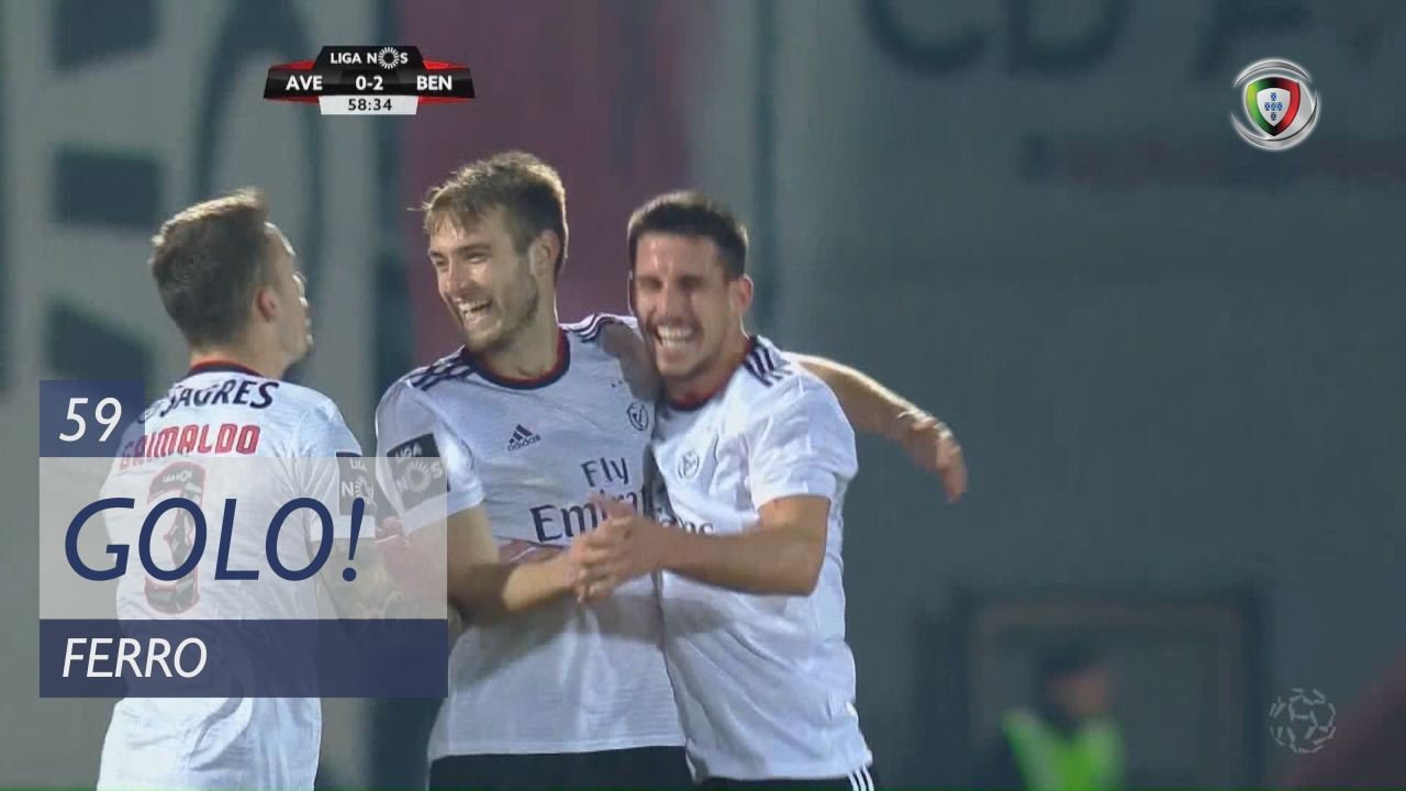 GOLO! SL Benfica, Ferro aos 59', CD Aves 0-3 SL Be...