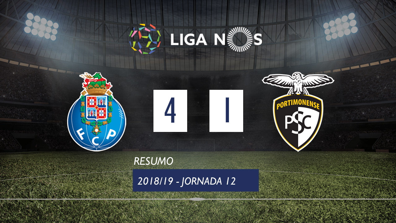 Liga NOS (12ªJ): Resumo FC Porto 4-1 Portimonense