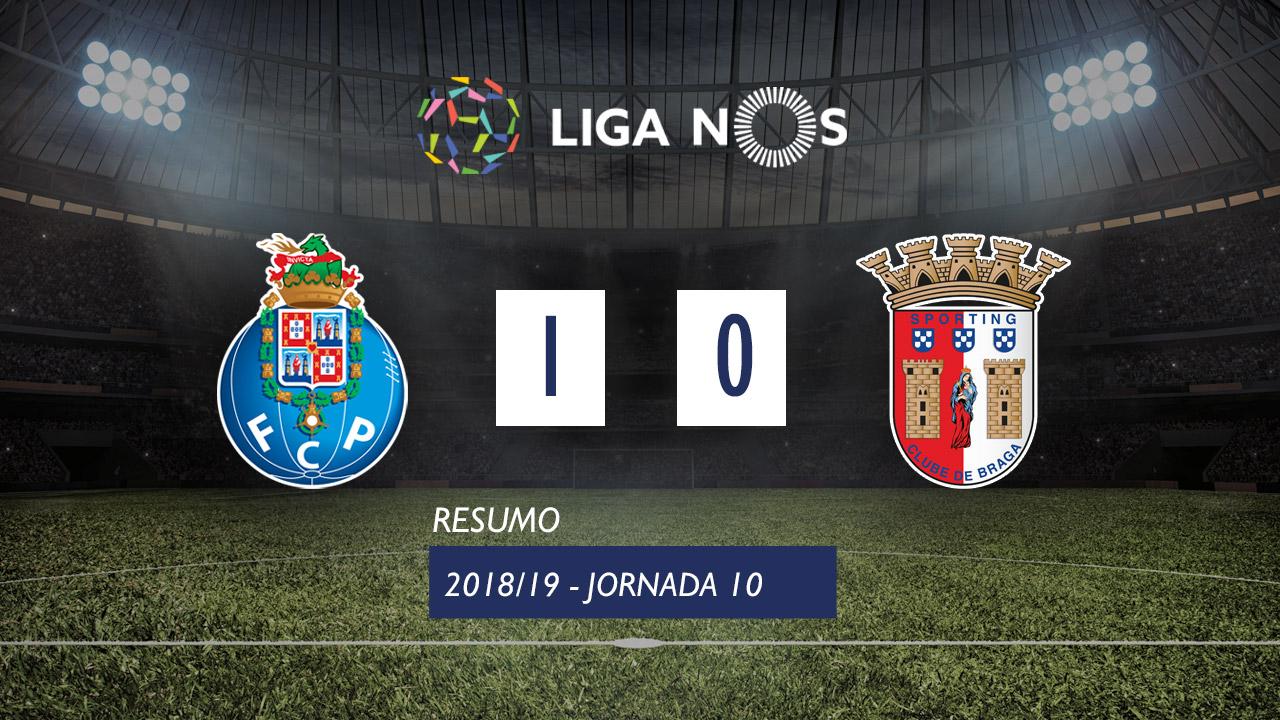 I Liga (10ªJ): Resumo FC Porto 1-0 SC Braga