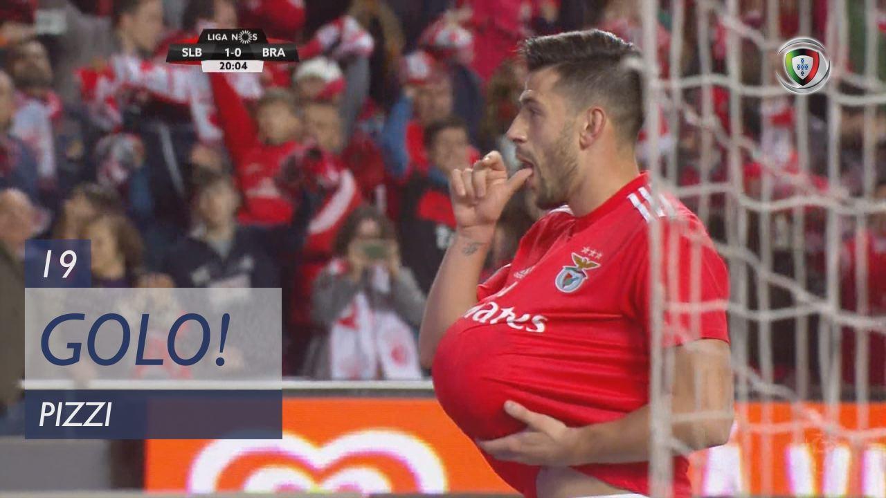 GOLO! SL Benfica, Pizzi aos 19', SL Benfica 1-0 SC Braga