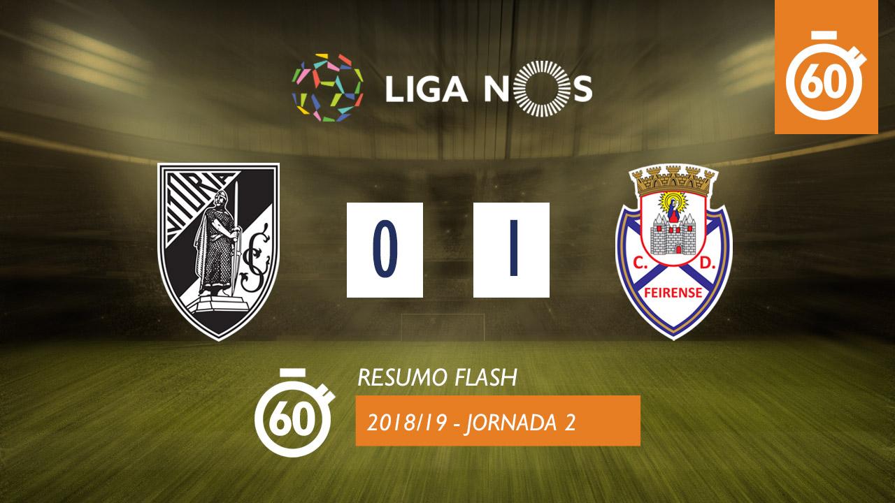 I Liga (2ªJ): Resumo Flash Vitória SC 0-1 CD Feirense