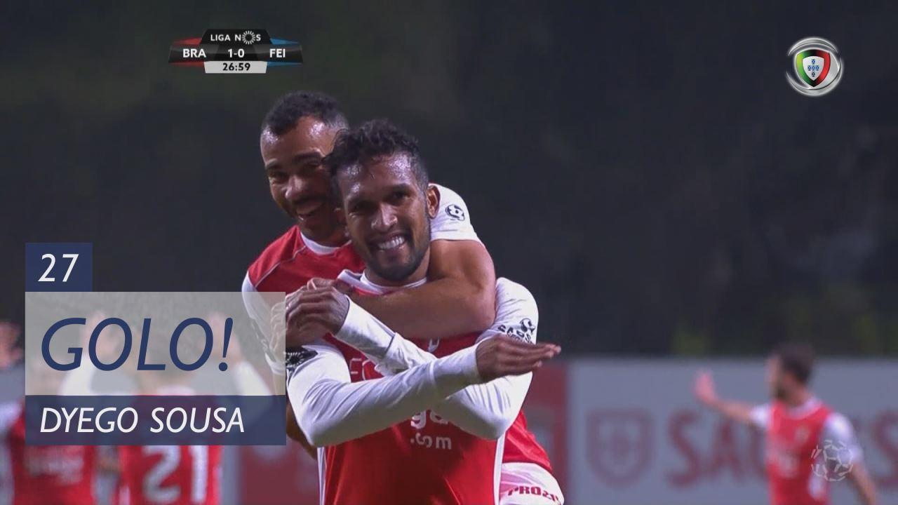 GOLO! SC Braga, Dyego Sousa aos 27', SC Braga 1-0 CD Feirense