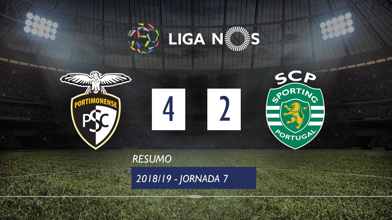 I Liga (7ªJ): Resumo Portimonense 4-2 Sporting CP