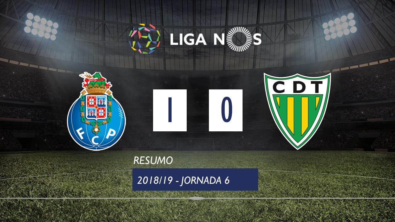 Liga NOS (6ªJ): Resumo FC Porto 1-0 CD Tondela