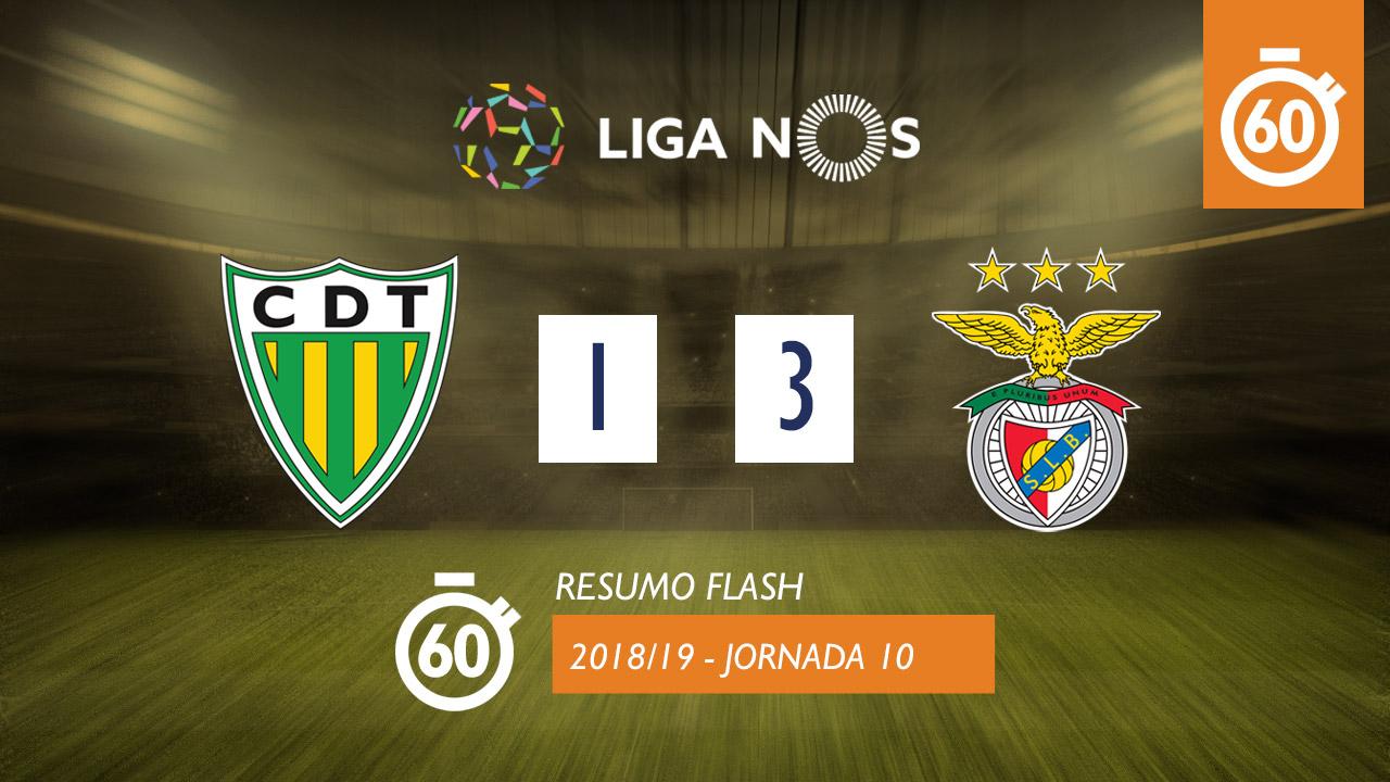 I Liga (10ªJ): Resumo Flash CD Tondela 1-3 SL Benfica