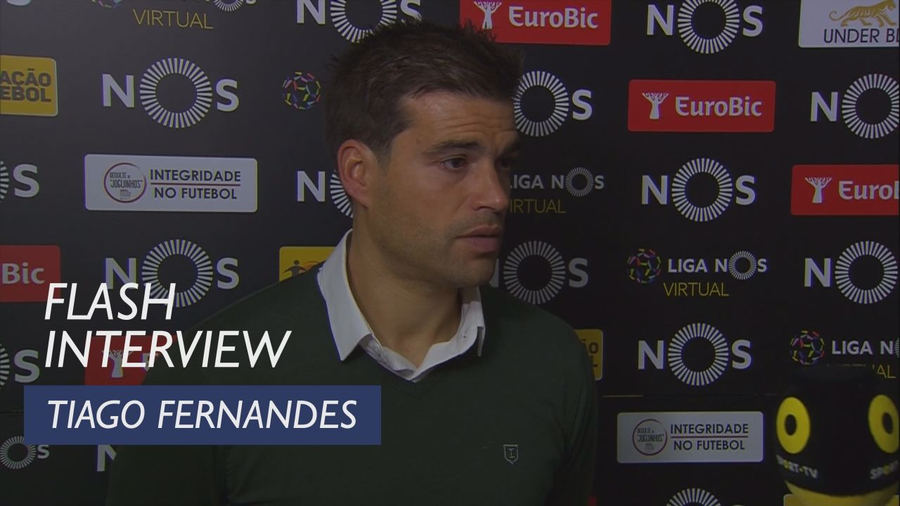 Liga (10ª): Flash interview Tiago Fernandes