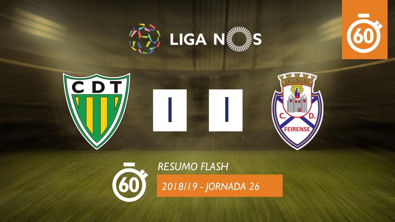 I Liga (26ªJ): Resumo Flash CD Tondela 1-1 CD Feirense