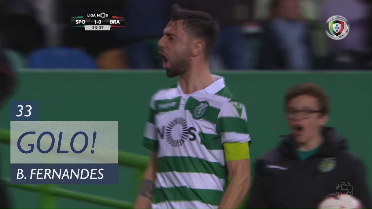 GOLO! Sporting CP, Bruno Fernandes aos 33', Sporting CP 1-0 SC Braga