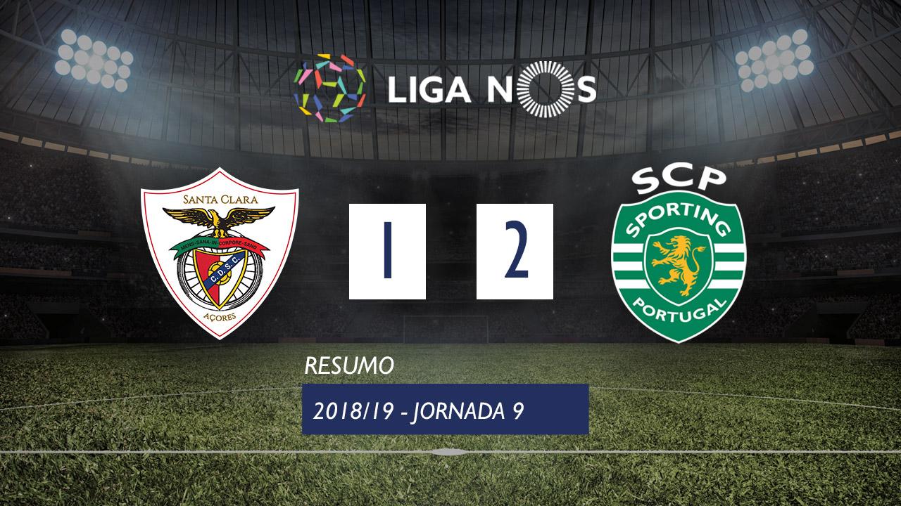 I Liga (9ªJ): Resumo Sta. Clara 1-2 Sporting CP