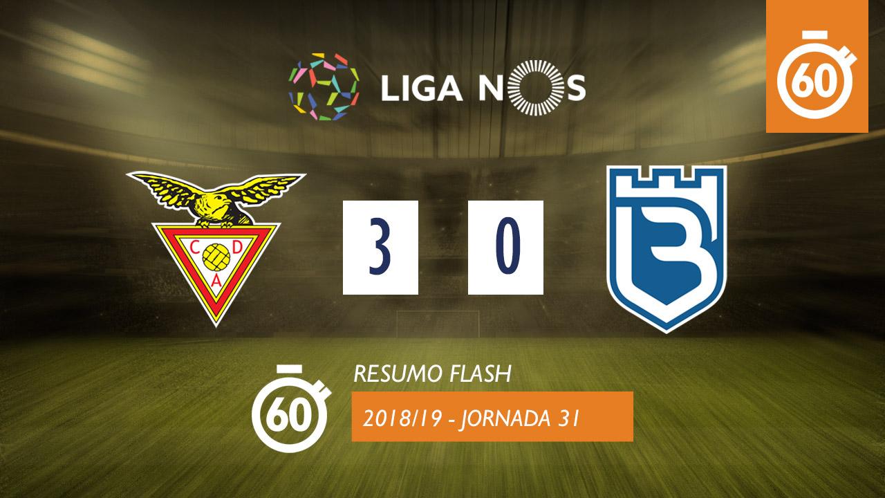 Liga NOS (31ªJ): Resumo Flash CD Aves 3-0 Belenenses SAD