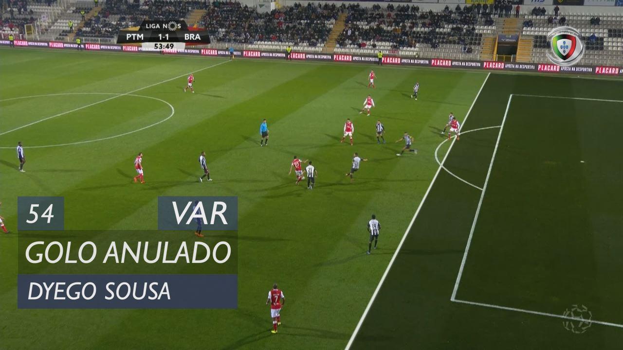 SC Braga, Golo Anulado, Dyego Sousa aos 54'