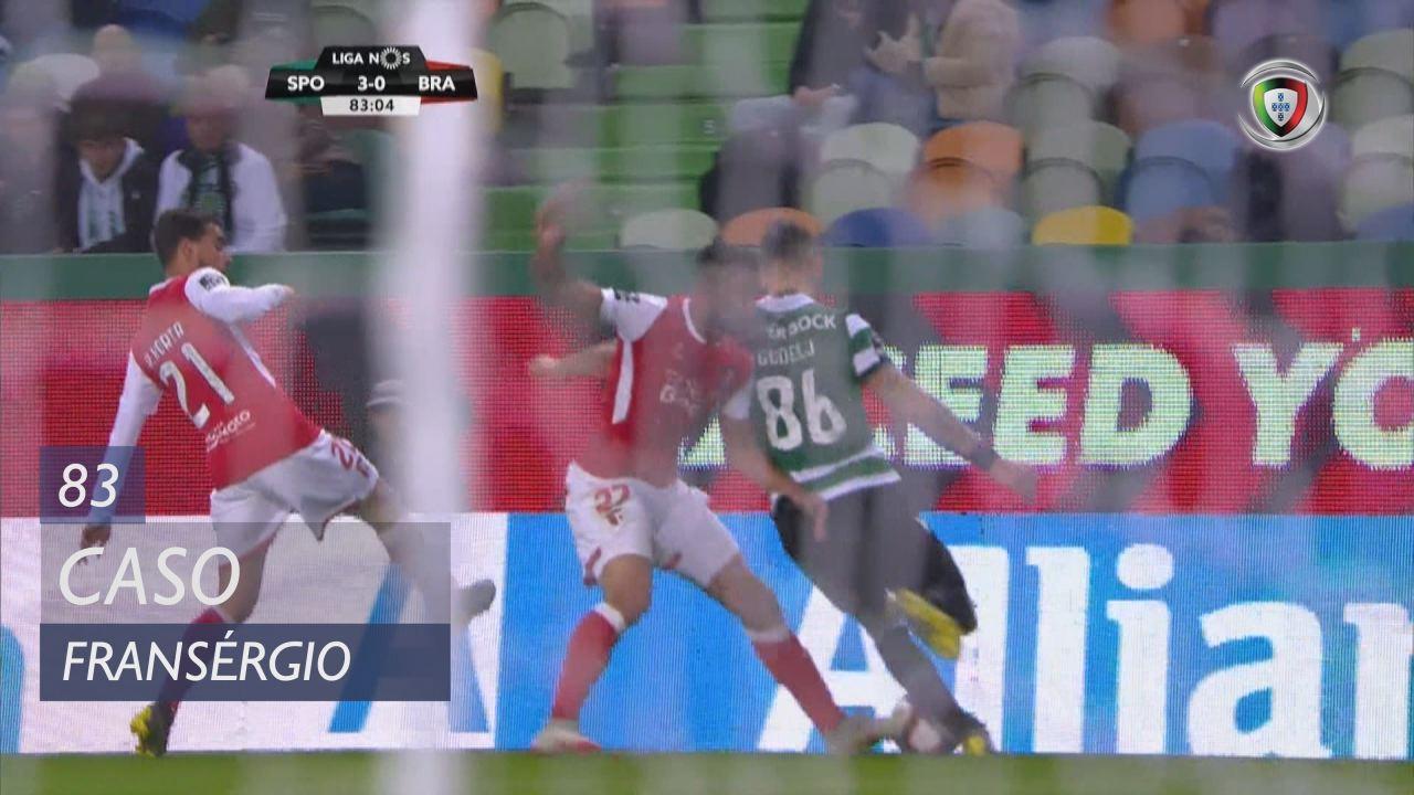 SC Braga, Caso, Fransérgio aos 83'