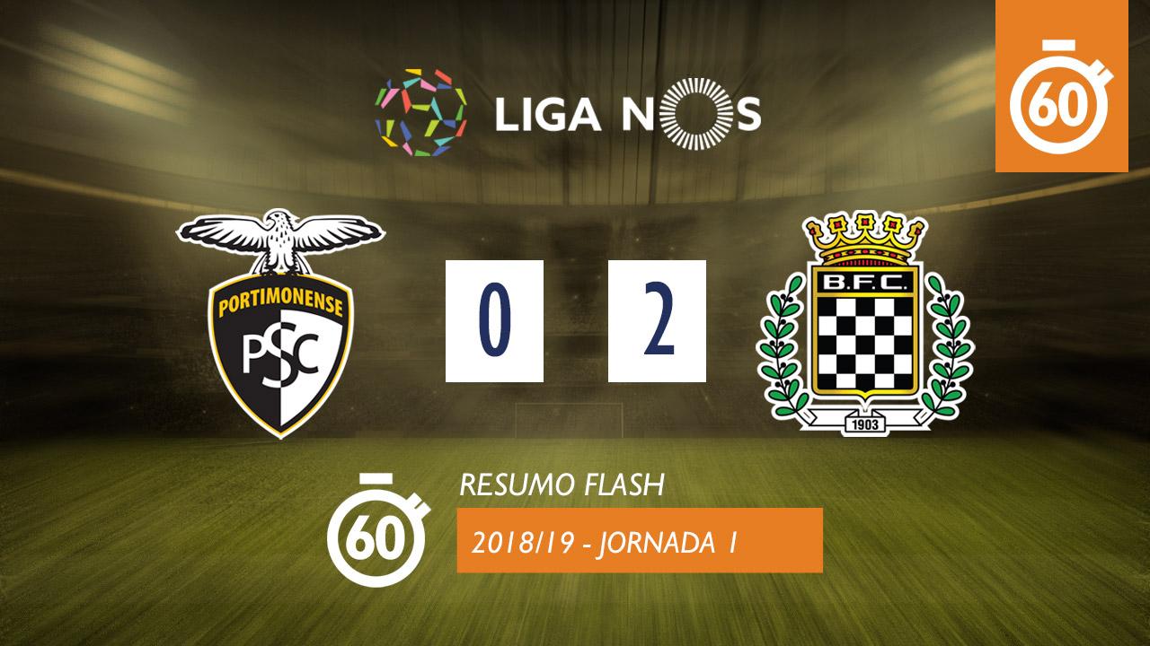 I Liga (1ªJ): Resumo Flash Portimonense 0-2 Boavista FC