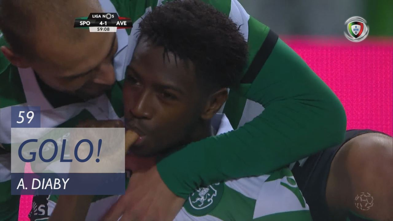 GOLO! Sporting CP, A. Diaby aos 59', Sporting CP 4-1 CD Aves