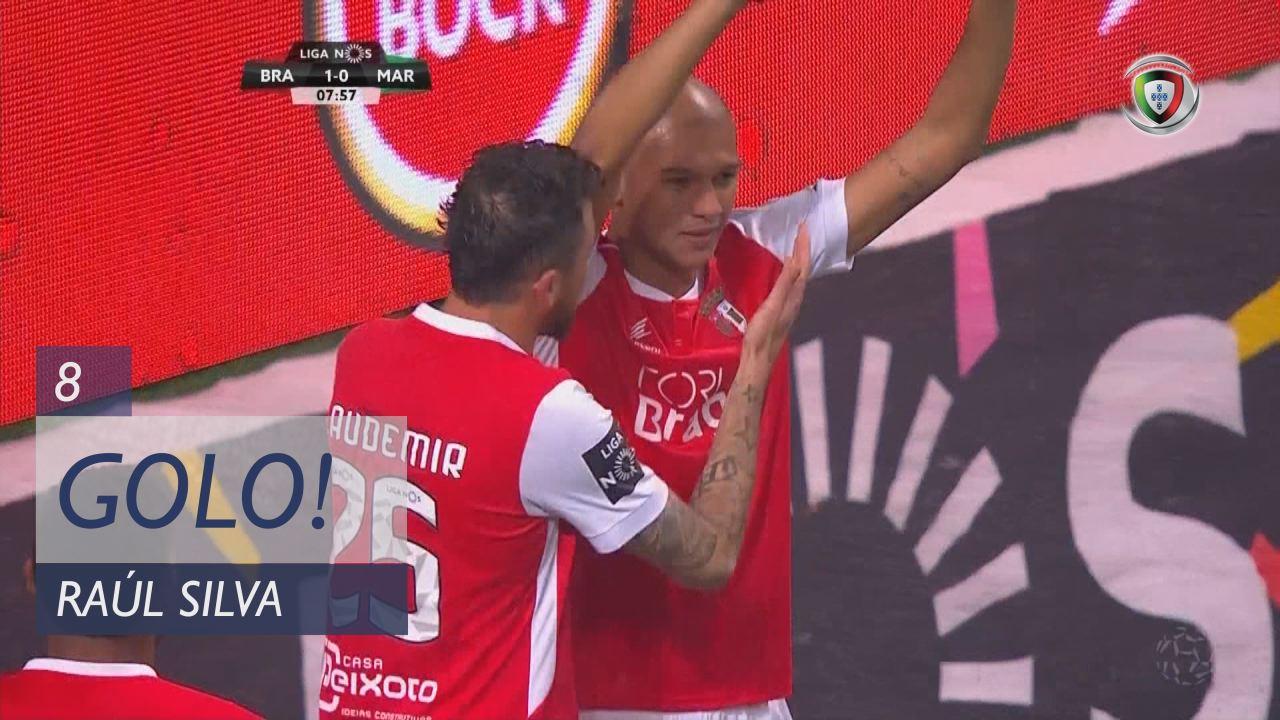 GOLO! SC Braga, Raúl Silva aos 8', SC Braga 1-0 Marítimo M.