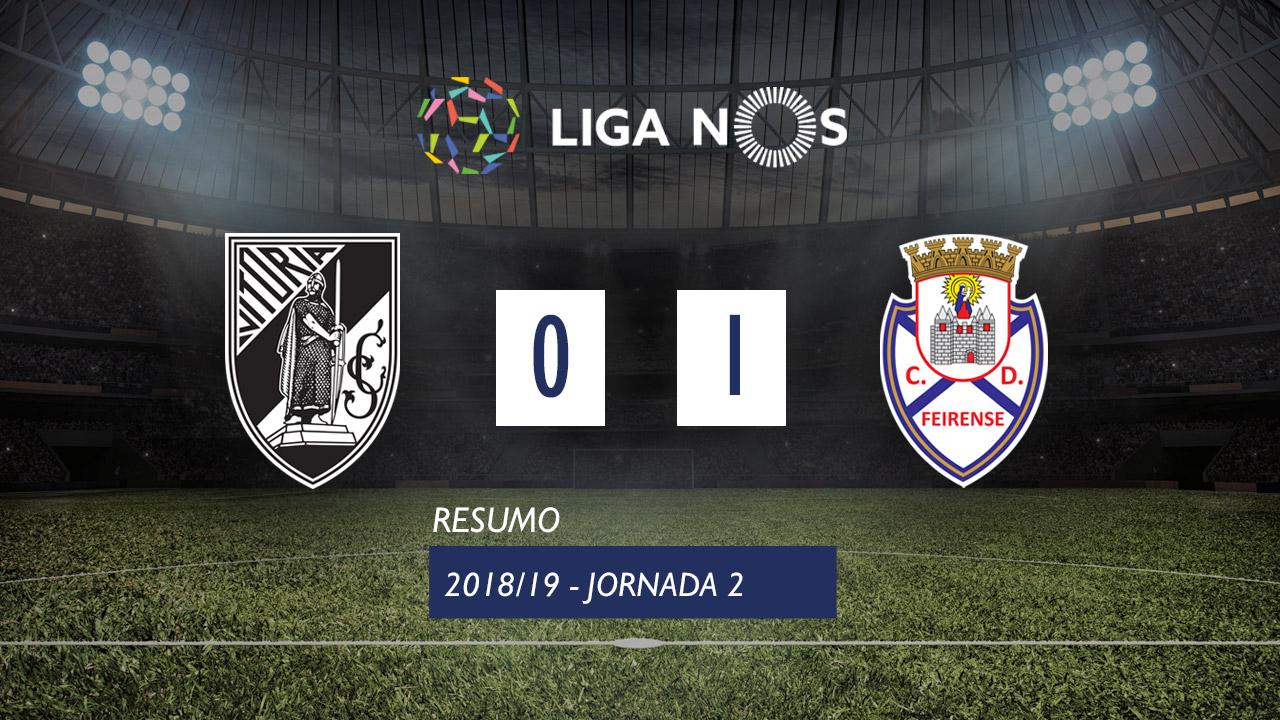 I Liga (2ªJ): Resumo Vitória SC 0-1 CD Feirense