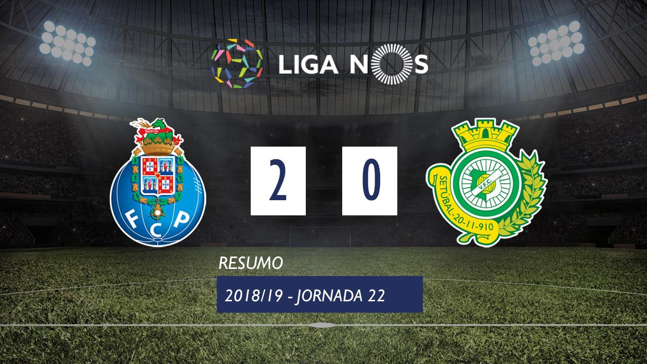 I Liga (22ªJ): Resumo FC Porto 2-0 Vitória FC