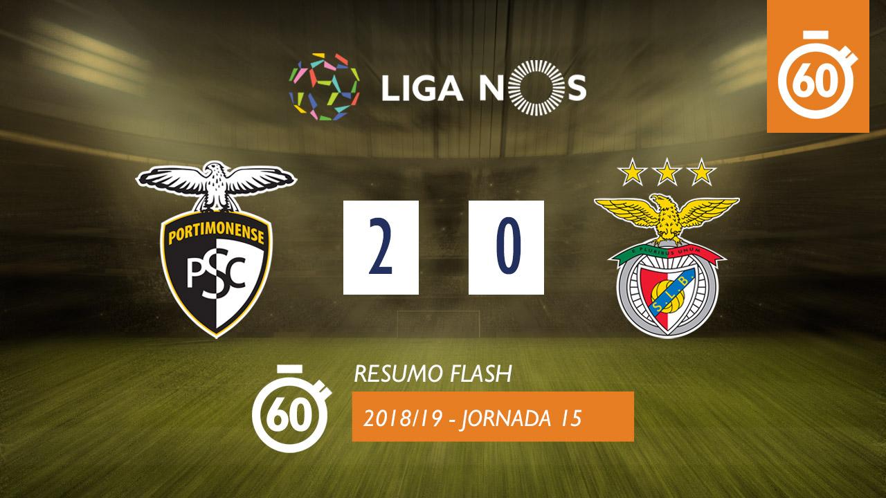 I Liga (15ªJ): Resumo Flash Portimonense 2-0 SL Benfica