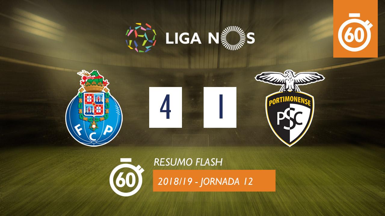 I Liga (12ªJ): Resumo Flash FC Porto 4-1 Portimonense