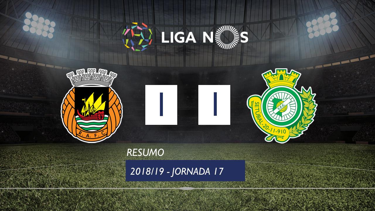 I Liga (17ªJ): Resumo Rio Ave FC 1-1 Vitória FC