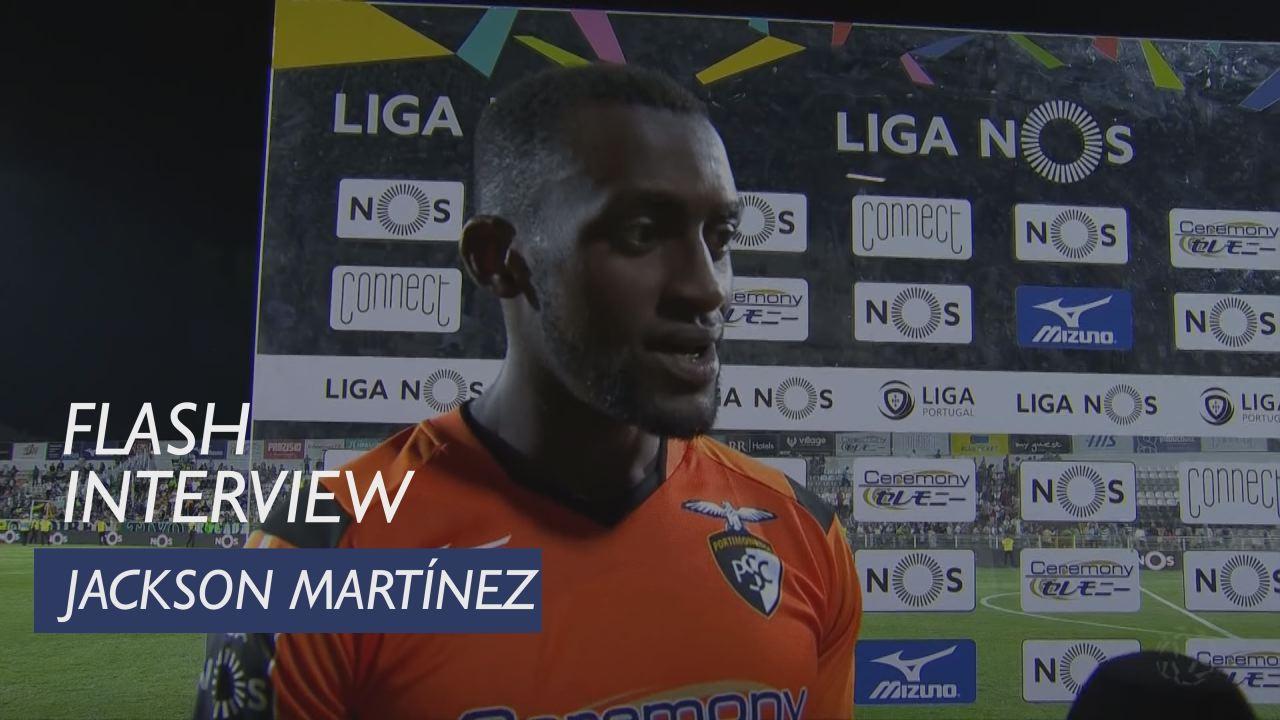 Liga (7ª): Flash interview Jackson Martínez