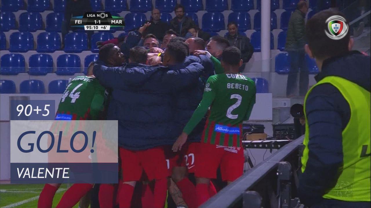 GOLO! Marítimo M., Valente aos 90'+5', CD Feirense 1-1 Marítimo M.