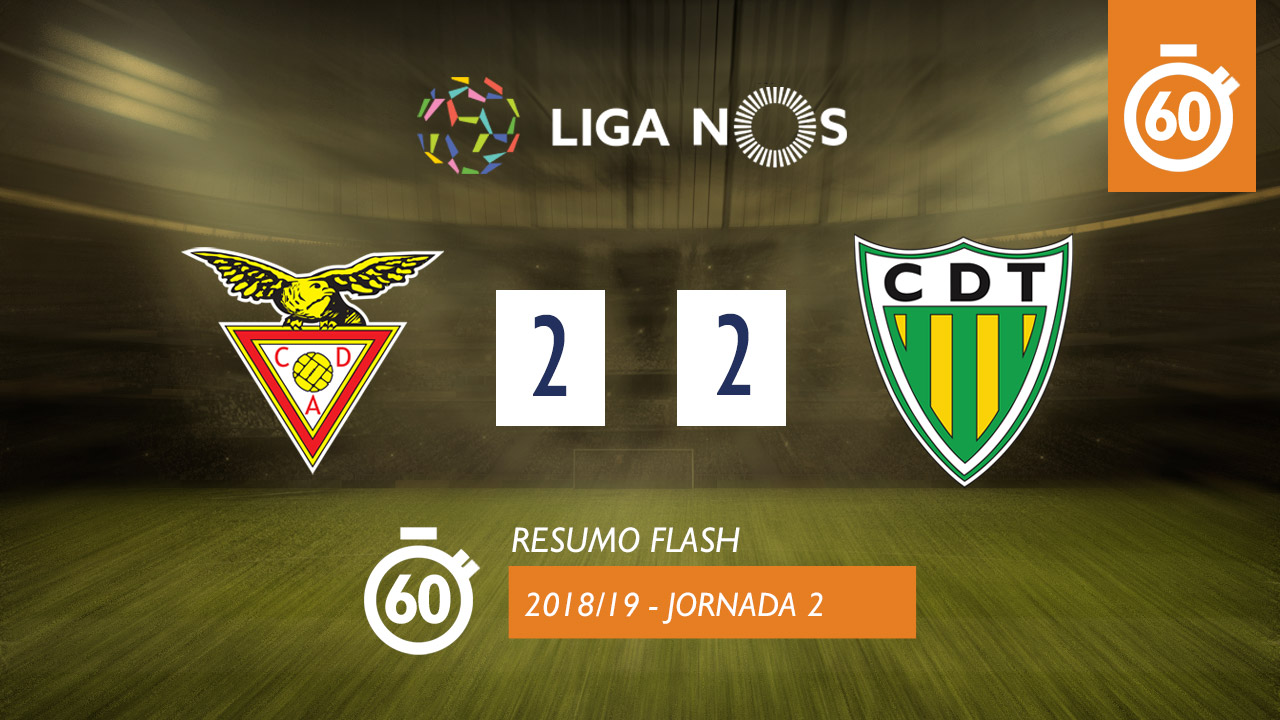 I Liga (2ªJ): Resumo Flash CD Aves 2-2 CD Tondela