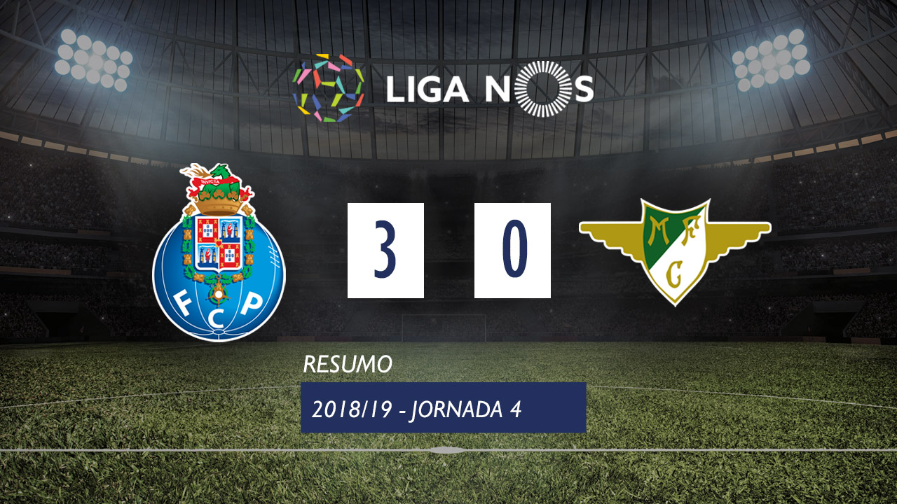 I Liga (4ªJ): Resumo FC Porto 3-0 Moreirense FC