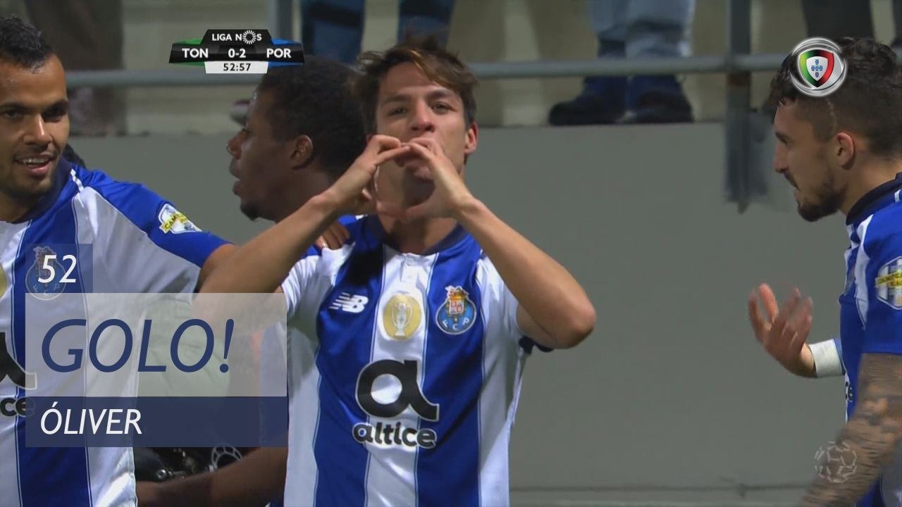GOLO! FC Porto, Óliver aos 52', CD Tondela 0-2 FC Porto