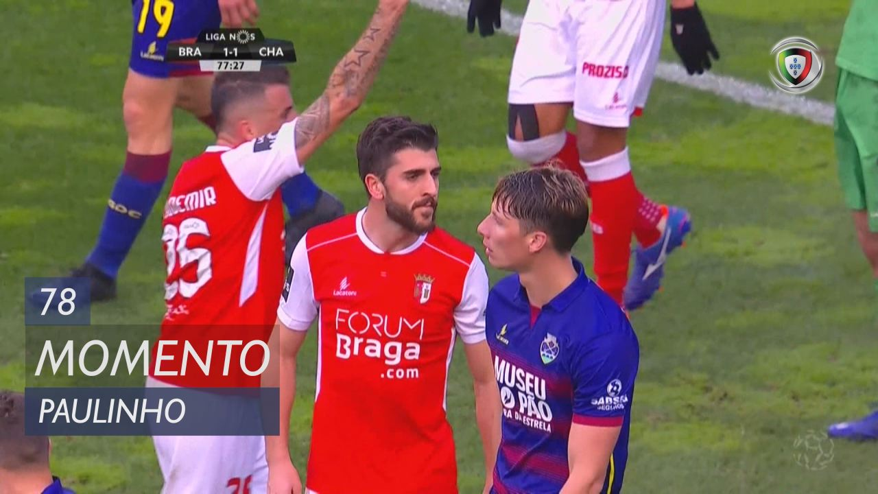 Braga Chaves: SC Braga, Jogada, Paulinho, 78m