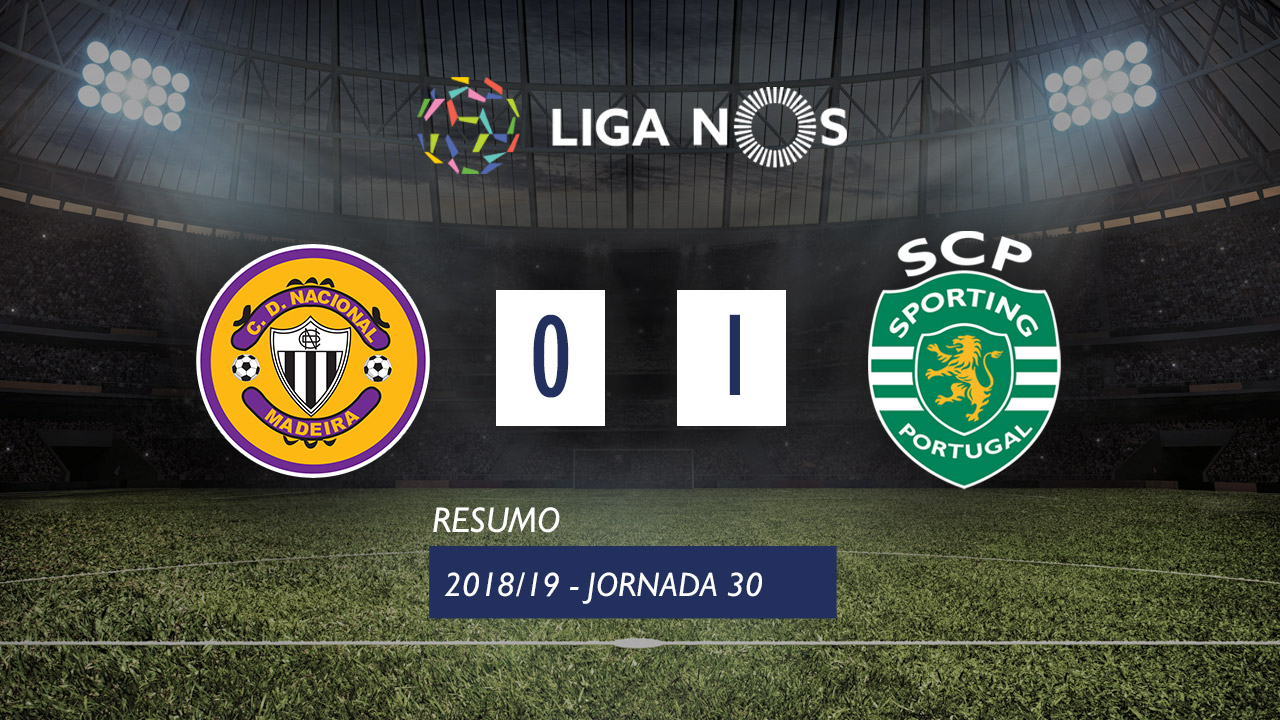 I Liga (30ªJ): Resumo CD Nacional 0-1 Sporting CP