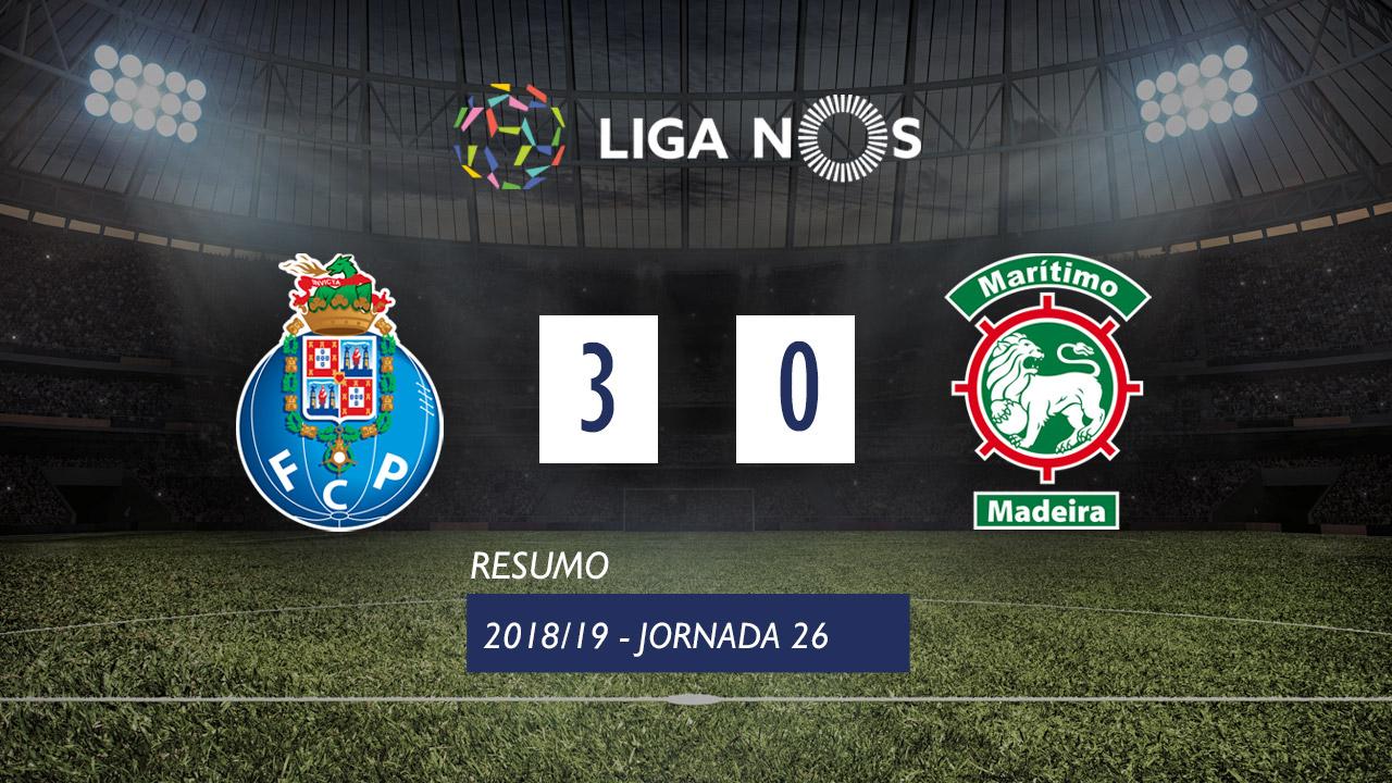 I Liga (26ªJ): Resumo FC Porto 3-0 Marítimo M.