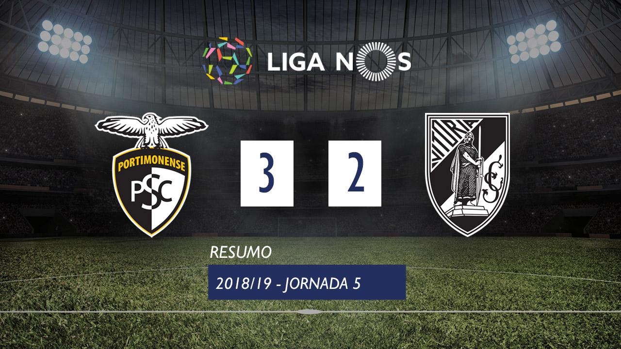 I Liga (5ªJ): Resumo Portimonense 3-2 Vitória SC
