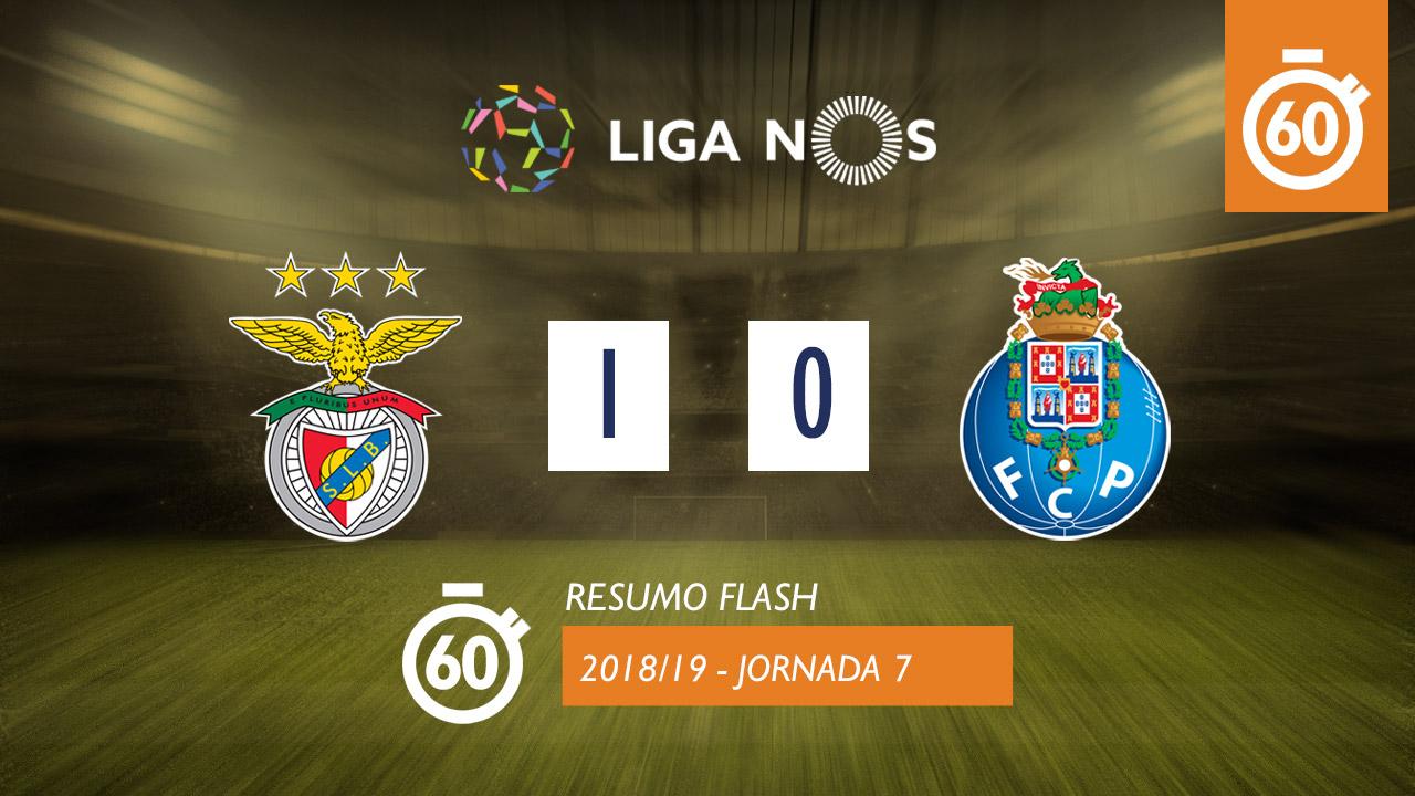 I Liga (7ªJ): Resumo Flash SL Benfica 1-0 FC Porto